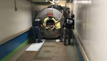 MRI rigging through hospital tunnel 2