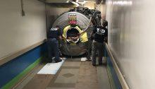 MRI rigging through hospital tunnel 2